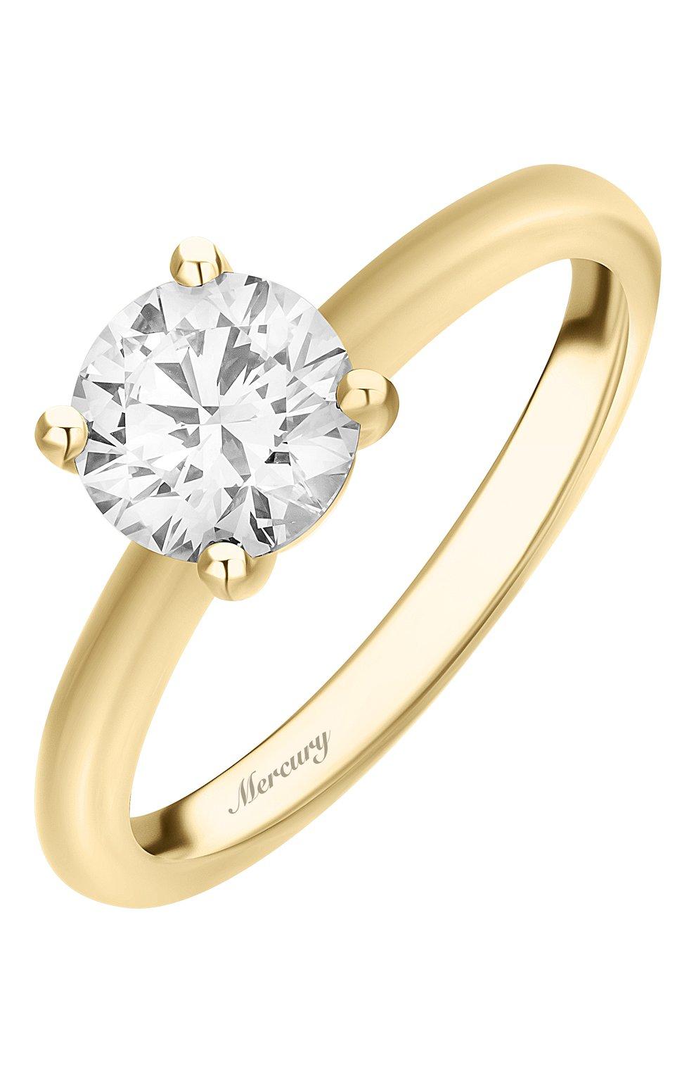 Женские кольцо MERCURY желтого золота цвета, арт. MR100/4YRD | Фото 1