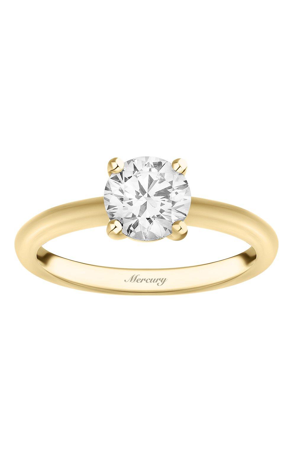 Женские кольцо MERCURY желтого золота цвета, арт. MR100/4YRD | Фото 2