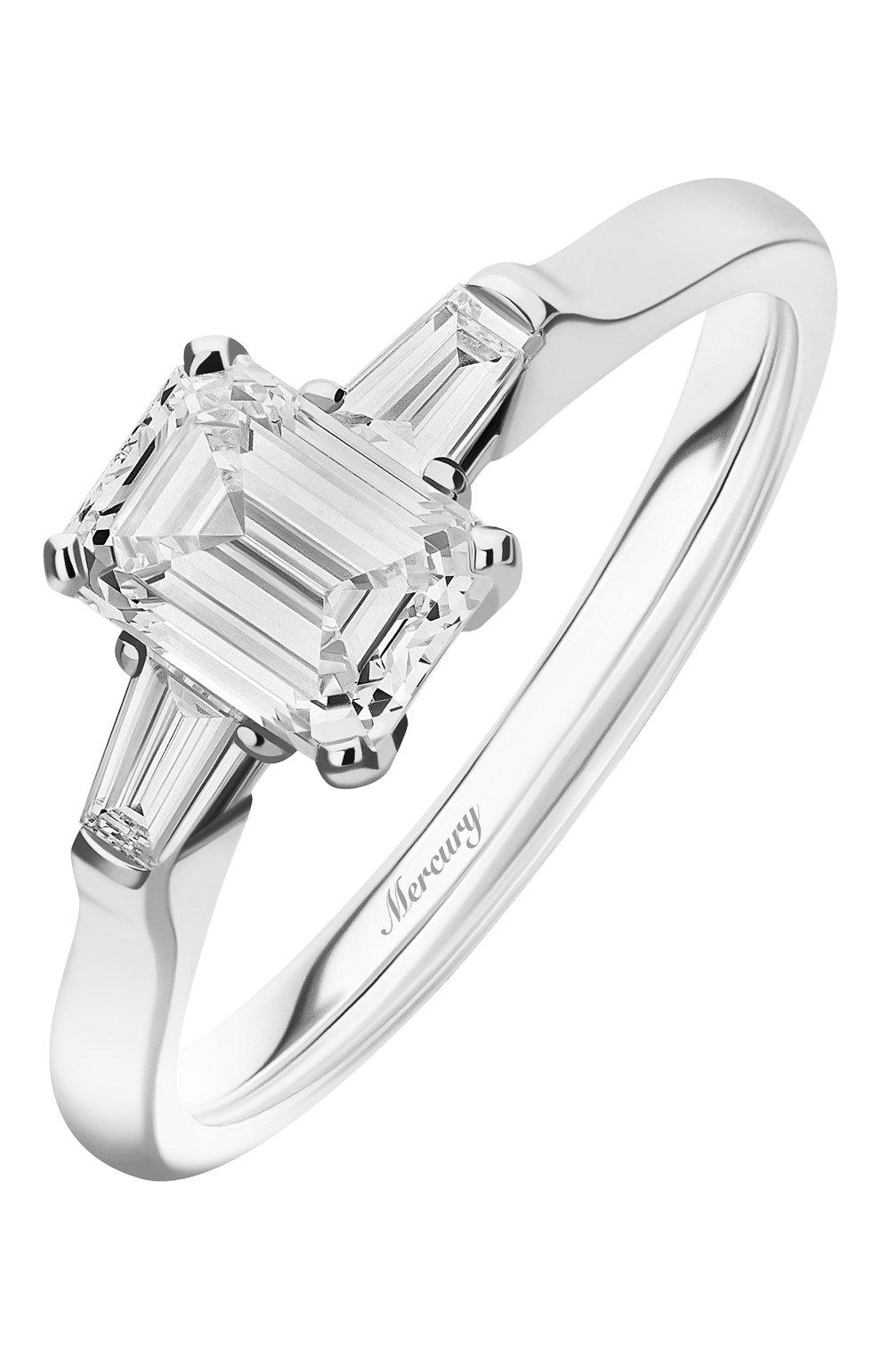 Женские кольцо MERCURY бесцветного цвета, арт. MR100WEDB | Фото 1 (Материал сплава: Белое золото; Драгоценные камни: Бриллианты)