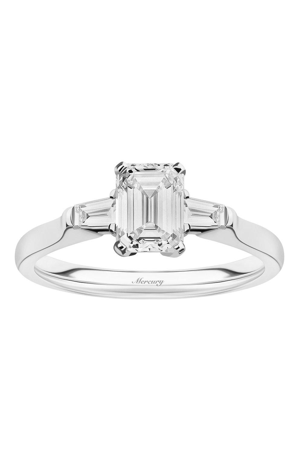 Женские кольцо MERCURY бесцветного цвета, арт. MR100WEDB | Фото 2 (Материал сплава: Белое золото; Драгоценные камни: Бриллианты)