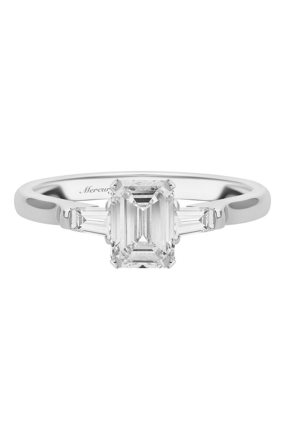 Женские кольцо MERCURY бесцветного цвета, арт. MR100WEDB | Фото 3 (Материал сплава: Белое золото; Драгоценные камни: Бриллианты)