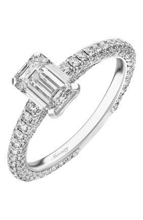 Женские кольцо MERCURY бесцветного цвета, арт. MR100WEDD | Фото 1 (Материал сплава: Белое золото; Драгоценные камни: Бриллианты)