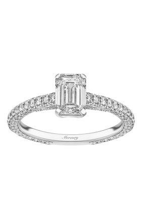 Женские кольцо MERCURY бесцветного цвета, арт. MR100WEDD | Фото 2 (Материал сплава: Белое золото; Драгоценные камни: Бриллианты)