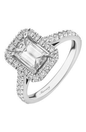 Женские кольцо MERCURY бесцветного цвета, арт. MR100WERD | Фото 1 (Материал сплава: Белое золото; Драгоценные камни: Бриллианты)