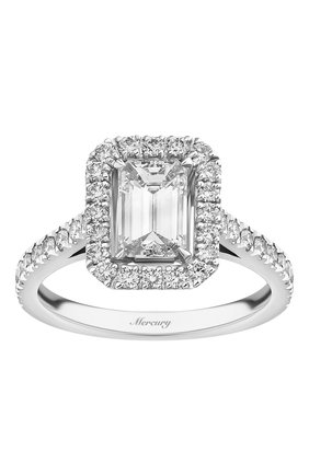 Женские кольцо MERCURY бесцветного цвета, арт. MR100WERD | Фото 2 (Материал сплава: Белое золото; Драгоценные камни: Бриллианты)