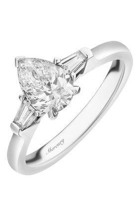 Женские кольцо MERCURY бесцветного цвета, арт. MR100WPDB | Фото 1 (Материал сплава: Белое золото; Драгоценные камни: Бриллианты)