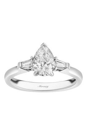 Женские кольцо MERCURY бесцветного цвета, арт. MR100WPDB | Фото 2 (Материал сплава: Белое золото; Драгоценные камни: Бриллианты)