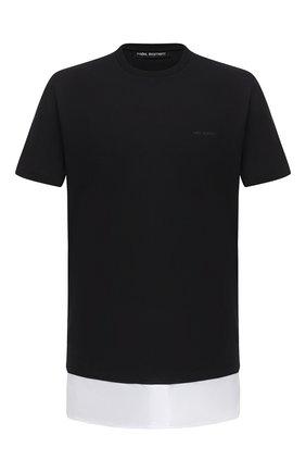 Мужская хлопковая футболка NEIL BARRETT черного цвета, арт. PBJT837A/P570S | Фото 1
