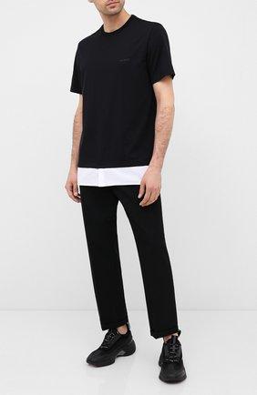 Мужская хлопковая футболка NEIL BARRETT черного цвета, арт. PBJT837A/P570S | Фото 2