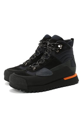 Мужские комбинированные ботинки HERON PRESTON черного цвета, арт. HMIA020F20LEA0011000 | Фото 1