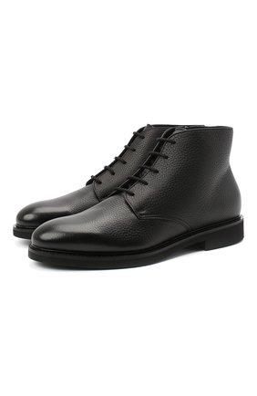 Мужские кожаные ботинки DOUCAL'S черного цвета, арт. DU2271GEN0UM019NN00 | Фото 1