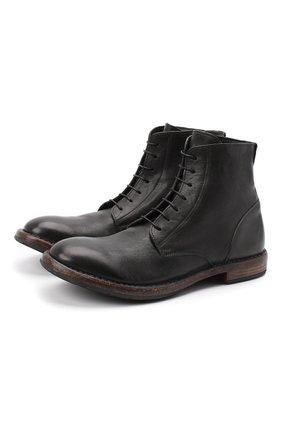Мужские кожаные ботинки MOMA темно-серого цвета, арт. 2CW022-CU | Фото 1