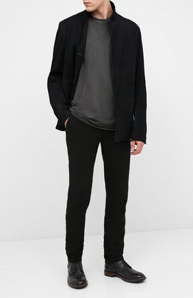 Мужские кожаные ботинки MOMA темно-серого цвета, арт. 2CW022-CU | Фото 2