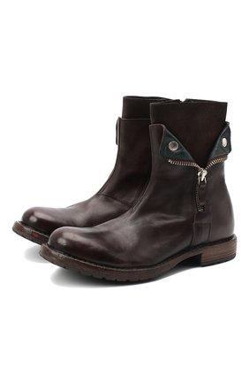Мужские кожаные сапоги MOMA темно-коричневого цвета, арт. 2CW080-CUBECU | Фото 1