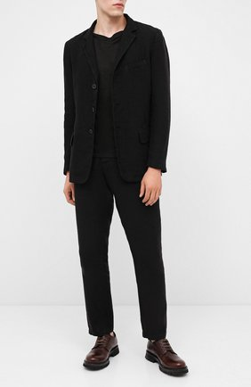 Мужской кожаные дерби MOMA темно-коричневого цвета, арт. 2AW118-TE | Фото 2
