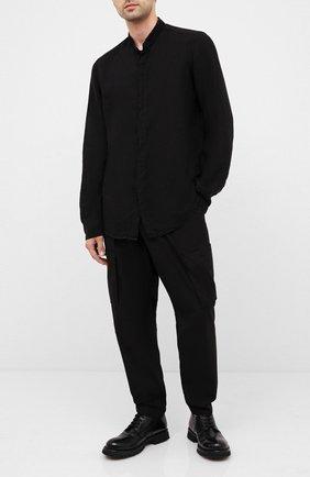 Мужской кожаные дерби MOMA черного цвета, арт. 2AW118-TE | Фото 2