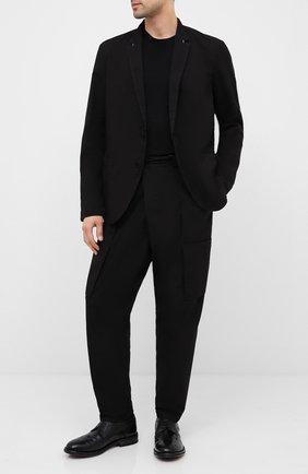 Мужской кожаные дерби MOMA черного цвета, арт. 2AW135-T0 | Фото 2