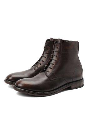Мужские кожаные ботинки MOMA коричневого цвета, арт. 2BW109-T0 | Фото 1