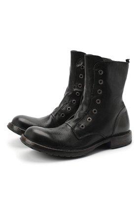 Мужские кожаные ботинки MOMA черного цвета, арт. 2CW089-CU | Фото 1