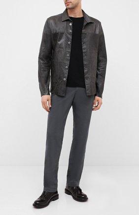 Мужские кожаные ботинки MOMA темно-коричневого цвета, арт. 2CW141-BC | Фото 2