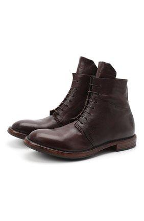 Мужские кожаные ботинки MOMA темно-коричневого цвета, арт. 2CW144-CU | Фото 1