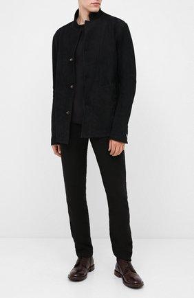 Мужские кожаные ботинки MOMA темно-коричневого цвета, арт. 2CW144-CU | Фото 2