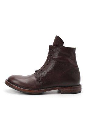 Мужские кожаные ботинки MOMA темно-коричневого цвета, арт. 2CW144-CU   Фото 3