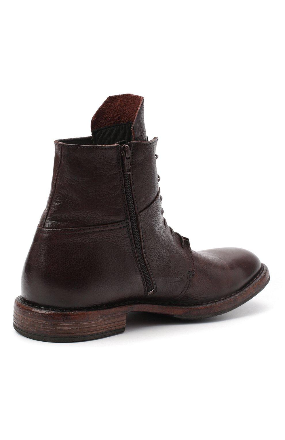 Мужские кожаные ботинки MOMA темно-коричневого цвета, арт. 2CW144-CU   Фото 4