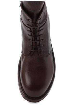 Мужские кожаные ботинки MOMA темно-коричневого цвета, арт. 2CW144-CU   Фото 5