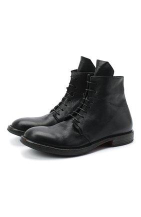 Мужские кожаные ботинки MOMA черного цвета, арт. 2CW144-CU | Фото 1
