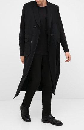 Мужские кожаные ботинки MOMA черного цвета, арт. 2CW144-CU | Фото 2