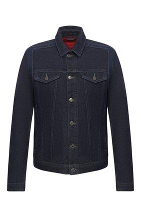 Мужская джинсовая куртка HUGO темно-синего цвета, арт. 50430954 | Фото 1
