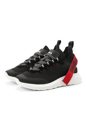 Мужские текстильные кроссовки DSQUARED2 черного цвета, арт. SNM0121 59203147 | Фото 1