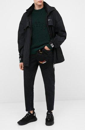 Мужские текстильные кроссовки DSQUARED2 черного цвета, арт. SNM0121 59203147 | Фото 2