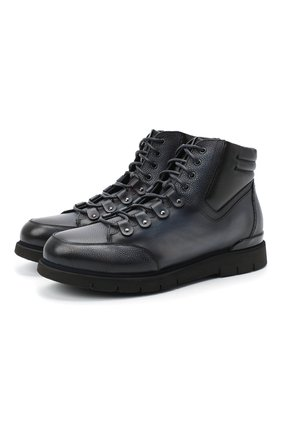 Мужские кожаные ботинки W.GIBBS синего цвета, арт. 0260005/1420 | Фото 1