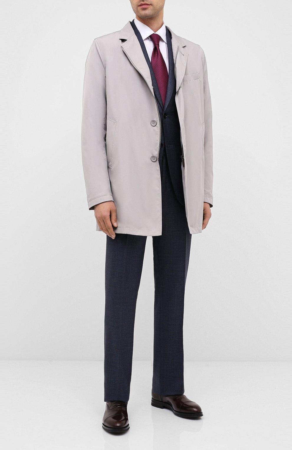 Мужские кожаные оксфорды W.GIBBS темно-коричневого цвета, арт. 0639012/0149 | Фото 2 (Материал внутренний: Натуральная кожа; Стили: Классический)