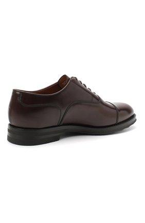 Мужские кожаные оксфорды W.GIBBS темно-коричневого цвета, арт. 0639012/0149 | Фото 4 (Материал внутренний: Натуральная кожа; Стили: Классический)