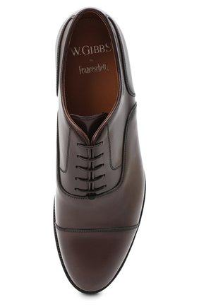 Мужские кожаные оксфорды W.GIBBS темно-коричневого цвета, арт. 0639012/0149 | Фото 5 (Материал внутренний: Натуральная кожа; Стили: Классический)