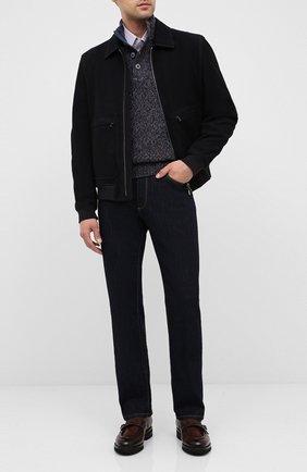 Мужские кожаные монки W.GIBBS темно-коричневого цвета, арт. 0128010/2303 | Фото 2