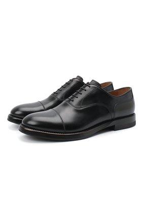 Мужские кожаные оксфорды W.GIBBS черного цвета, арт. 0220009/2302 | Фото 1