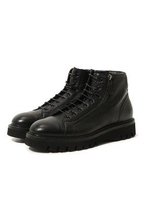 Мужские кожаные ботинки W.GIBBS черного цвета, арт. 0672001/1541 | Фото 1