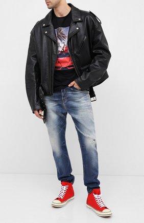 Мужские джинсы DIESEL синего цвета, арт. 00SSQ3/009FR | Фото 2