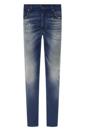 Мужские джинсы DIESEL синего цвета, арт. 00SWID/009FR | Фото 1