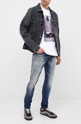 Мужские джинсы DIESEL синего цвета, арт. 00SWID/009FR | Фото 2