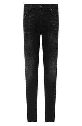Мужские джинсы DIESEL черного цвета, арт. A00712/0092B | Фото 1