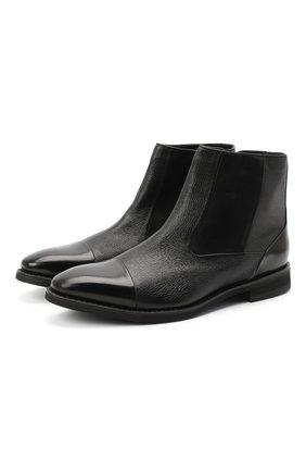 Мужские кожаные сапоги BARRETT черного цвета, арт. 152U022.5/VITELL0 | Фото 1