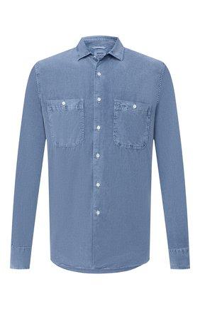 Мужская хлопковая рубашка ASPESI голубого цвета, арт. W0 A AEC1 G536 | Фото 1