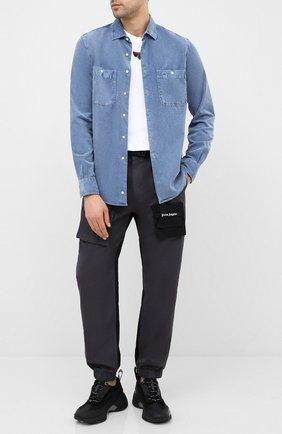 Мужская хлопковая рубашка ASPESI голубого цвета, арт. W0 A AEC1 G536 | Фото 2