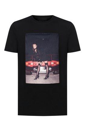 Мужская хлопковая футболка LIMITATO черного цвета, арт. 0H HI/T-SHIRT REGULAR | Фото 1