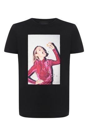 Мужская хлопковая футболка LIMITATO черного цвета, арт. CALM ME/T-SHIRT REGULAR | Фото 1